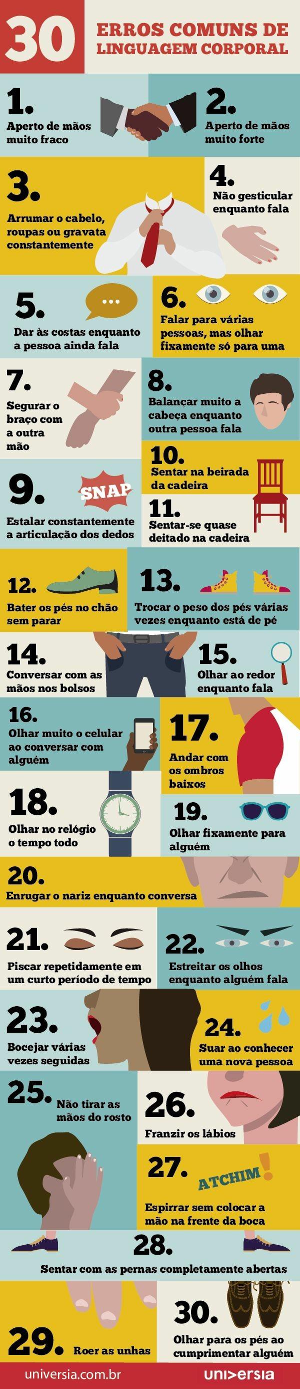 30 erros de linguagem corporal